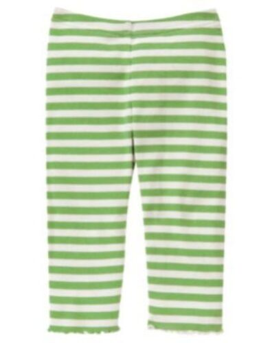 GYMBOREE FLOWER SHOWERS GREEN STRIPED LEGGINGS 3 6 12 18 24 2T 3T 4T NWT