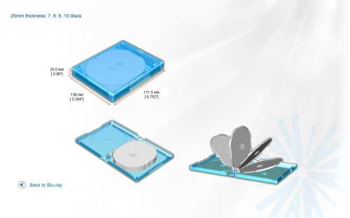 5 Pk New VIVA ELITE Hold 10 Discs Multi Blu-Ray replacement case Box 10 Tray
