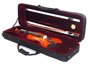 Musical Instruments & Gear Enthusiastic New 310e/350hrd 4/4 Solid Wood/ebony Violin+case+bow+rosin+free String Set Be Shrewd In Money Matters
