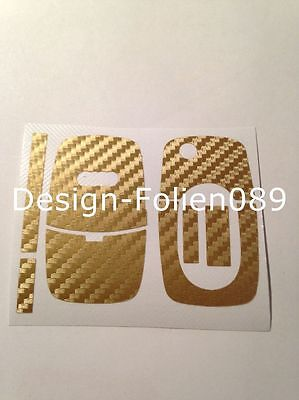 Carbon oro lámina de decoración clave audi d clave funda llave lámina key a4 s4