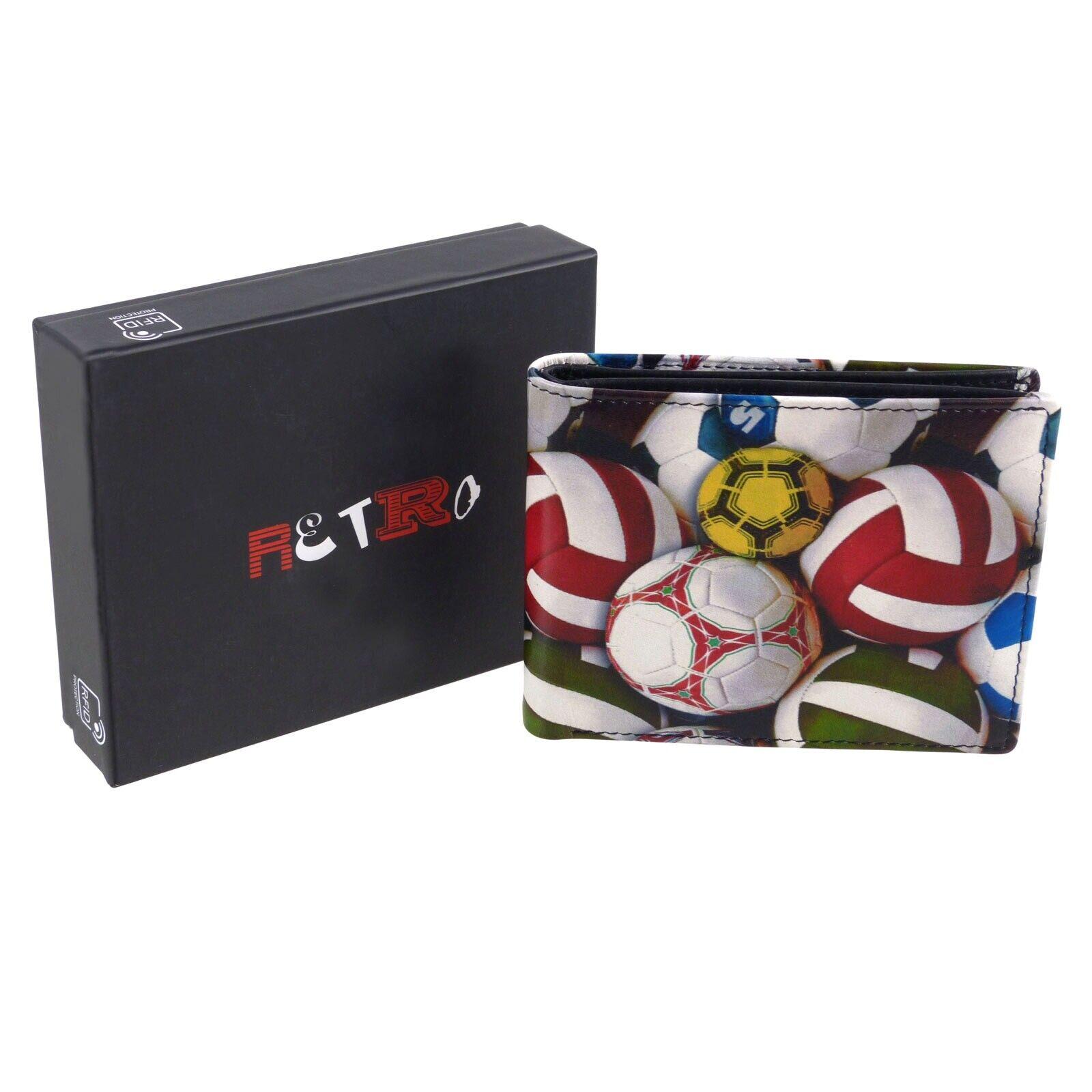 Golunski Leather Mens Bi-Fold Card Wallet Retro Football Range
