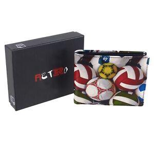 Golunski-Leather-Mens-Bi-Fold-Card-Wallet-Retro-Football-Range