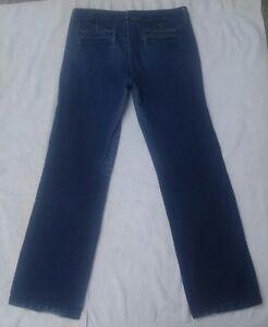 BANANA-REPUBLIC-Women-039-s-Low-Straight-Leg-Dark-Blue-Jeans-Sz-10-Actual-33-x-33