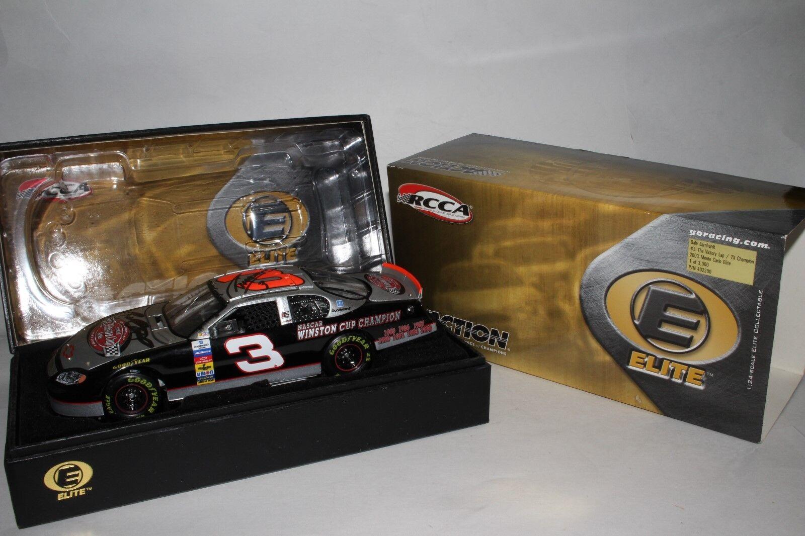 Autografiado Dale Earnhardt 2003  3 la victoria Lap 7X Champion Elite Monte Cochelo