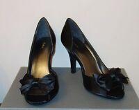 John Lewis - Black Satin Shoes -3 (g3101) Wedding