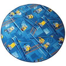 Minions Kinderteppich Spielteppich Mädchen Jungen blau rund 133cm 19,95€//1Stk