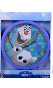 Nouveau-Officiel-10-034-disney-frozen-olaf-bleu-enfants-horloge-horloge-chambre-congeles