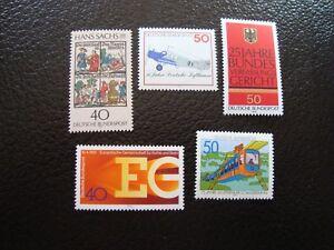 Germany-Rfa-Stamp-Yvert-Tellier-N-726-A-730-N-MNH-COL9