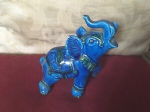 In-The-Style-of-Bitosi-A-Turquoise-Ceramic-Decorative-Elephant-Motived-Detail