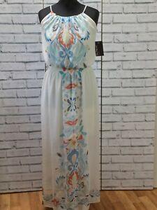 Ivoire-robe-a-fleurs-Taille-UK-12-US-8-FR-Focus-Studios