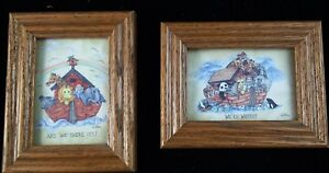 Nursery Décor Spirited Noahs Ark Kids Room Baby Are We There Yet We're Where Wall Hangings Set Of 2 Wall Hangings