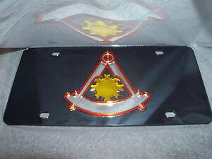 Masonic Master Mason Mirror Laser License Plate NEW!!