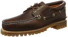 Timberland Mens Authentics 3-Eye Classic Lug Boat Shoe, Burgundy,9.5 M