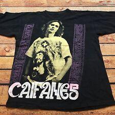 90s VTG CAIFANES EL NERVIO DEL VOLCAN ALBUM TOUR T Shirt Vinyl XL MEXICO Rock