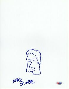 Mike-Judge-Signed-Auto-8X10-Sketch-Drawing-Beavis-Butthead-King-Of-The-Hill-PSA