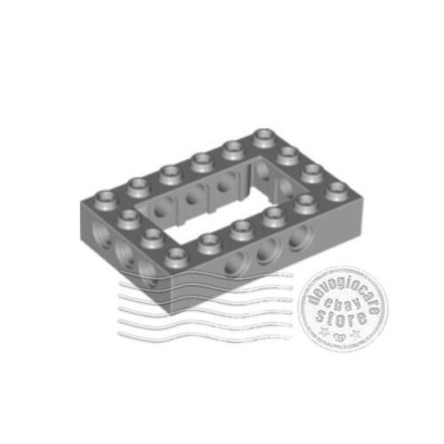1x LEGO 40344 Mattoncino Technic 4x6 Grigio chiaro4211716