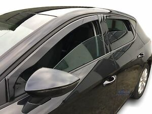 Seat-Leon-mk3-CUPRA-FR-2013-up-wind-deflectors-4pc-set-TINTED-HEKO
