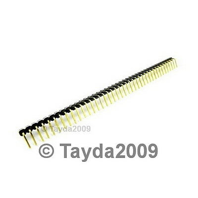 5 PCS 40 Pin 2.54 mm Right Angle Single Row Pin Header