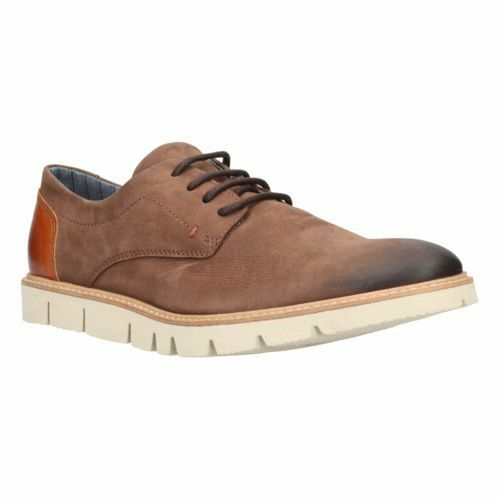Clarks  Uomo Dorsad Cross Braun Leder Casual Lace Up Schuhes, UK 8 EU 42