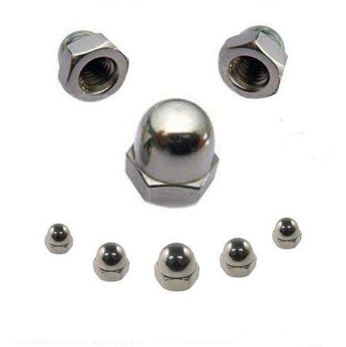 Hutmuttern 3 mm DIN 1587 M3 Edelstahl A2 100 Stk ** Profi-Qualität **