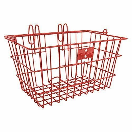 JBikes Lift-Off with Handle Beach Cruiser Bicycle Basket Red