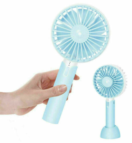 Mini Ventilator Hand Ventilator Stand//Tisch Ventilator USB Akku 3 Stufen+2000mAH