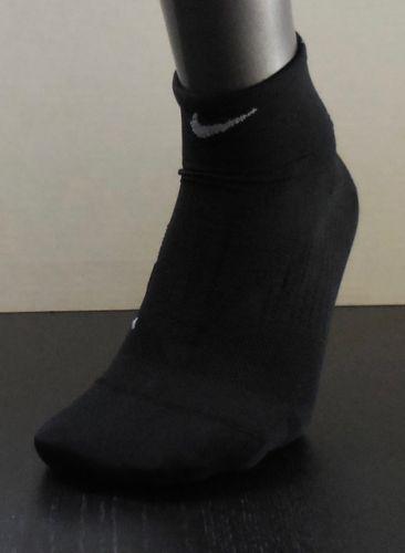Nike Men/'s Elite Lightweight Running Quarter Sock Black//Grey New