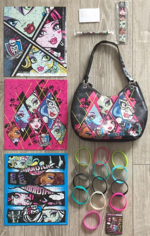 Monster High Puzzle Bag with 3 Puzzles and  girls toys and accessories