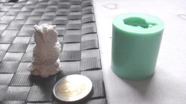 3D Silikonform Eule / Basteln / Hobby / Giessform / Dekoration / Seifenform Fimo