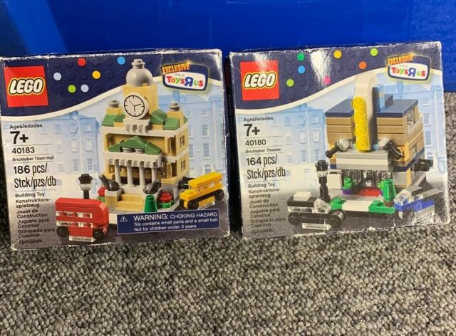 """Lego Bricktober Town Hall 40183 Factory Sealed 186 Pieces Toys/""""R/""""Us"""
