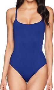La Blanca Women's Swimwear Midnight Blue Size 4 Strappy One Piece $112 471