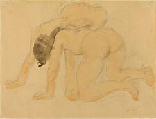 Auguste Rodin Drawings: Two Nudes, c. 1900 - Fine Art Print
