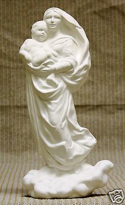 Ceramic Bisque Raphael's Madonna Byron Mold 3061 U-Paint Ready To Paint
