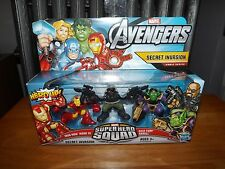 SUPER HERO SQUAD, THE AVENGERS, SECRET INVASION COMIC SERIES, FIGURE SET, NIB