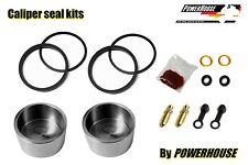 Yamaha Rd350 R Ypvs 91-95 Pinza De Freno Trasera Seal Kit de reparación & Inoxidable Pistones