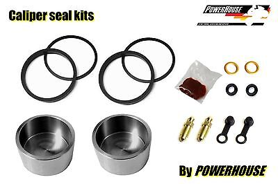 Yamaha RD350 R YPVS 91-95 rear brake caliper seal repair kit & stainless pistons