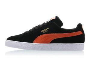 5a51fd109c70 Puma Men s Suede Classic+ Shoes 365347-38 Black-Firecracker White