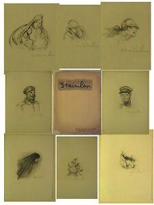 14-18-Steinlen-Recueil-de-20-remarques-lithographiees-en-noir-sur-JAPON