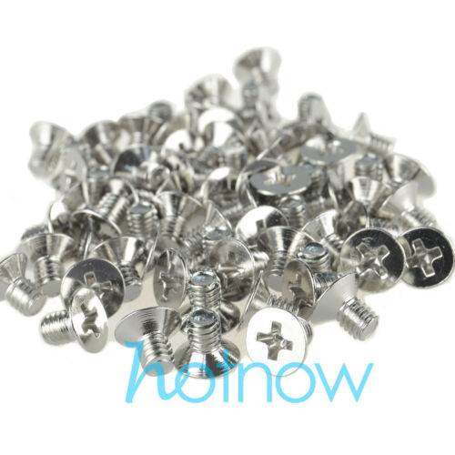 50 pcs M4 x 6mm Countersunk Flat head screws Nickel-pl​ated