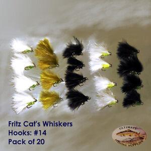Cats Whisker Trout Flies Stillwater Modern Nomads Lures Supersoft Fritz