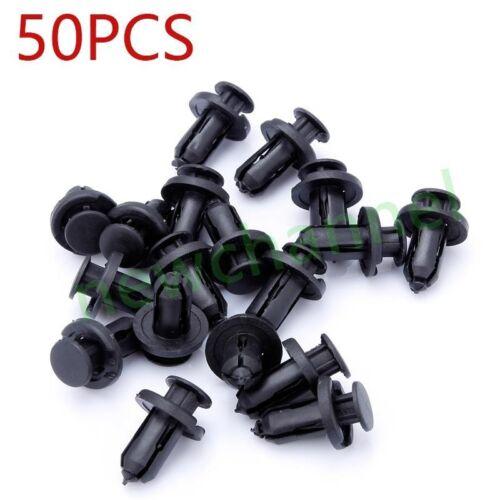 50x Plastic Rivet Front /& Rear Bumper Pin Clip Retainer Fastener For Honda Acura