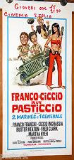 locandina film DUE MARINES E UN GENERALE Franco Franchi Ciccio Ingrassia