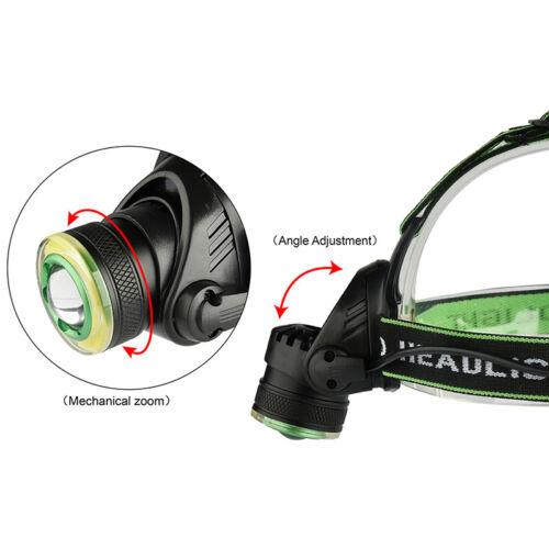 Rechargeable   XML-T6+COB Headlamp 18650 Headlight Head Lamp Torc tB