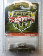 2009 MILITARY RODS HOT WHEELS '59 CHEVY BEL AIR #12 /26 In Protector!