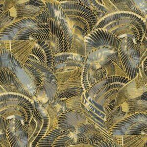 Robert-Kaufman-Treasures-of-Alexandria-18847-181-Onyx-Egyptian-Themed-Fabric-BTY