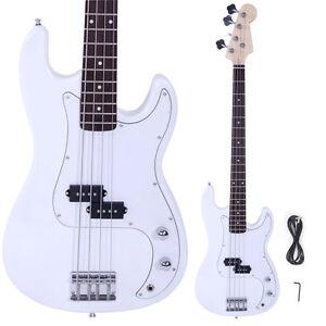 new brand white 4 string electric bass guitar ebay. Black Bedroom Furniture Sets. Home Design Ideas