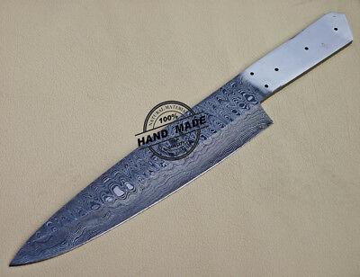 Custom Handmade Damascus Kitchen Knife Blank Blade Knife 1097 | eBay