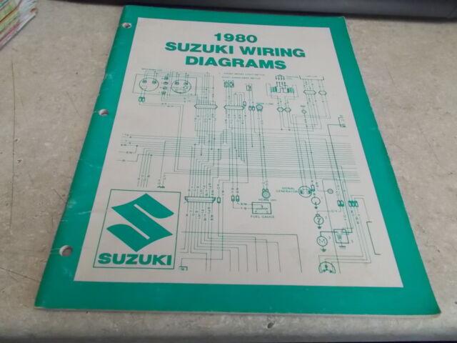 Oem Suzuki Wiring Diagrams T Model 1980 99923