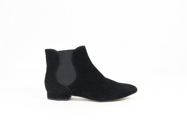 Enzo Angiolini Chelsea Boot Ankle Bootie Women Black Suede Shoe sz 8 pull on