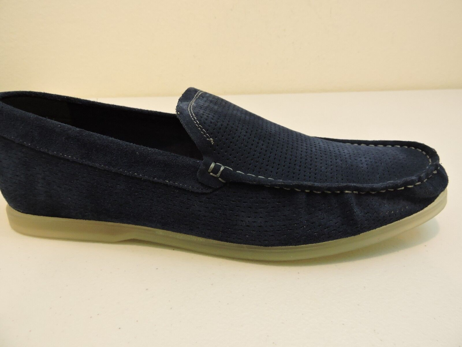 Kenneth Cole Reaction Suede bluee Marine Loafers W Urethane Sole Size 9.5 Medium